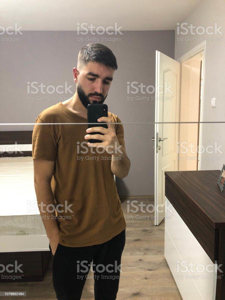 Selfie In Bedroom Stock Photo Download Image Now Istock