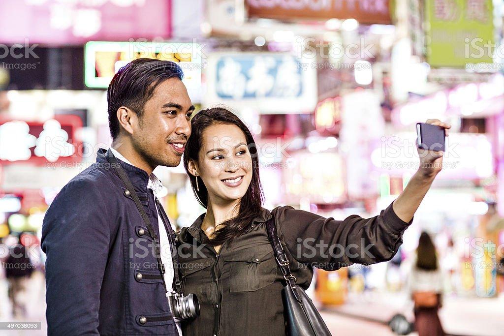 Selfie in Hong Kong royalty-free stock photo
