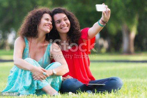 istock Selfie, mother and daughter 508421411