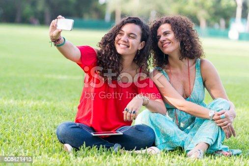 istock Selfie, mother and daughter 508421413