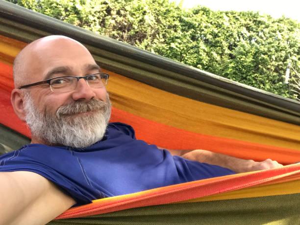 Selfie of a man in hammock