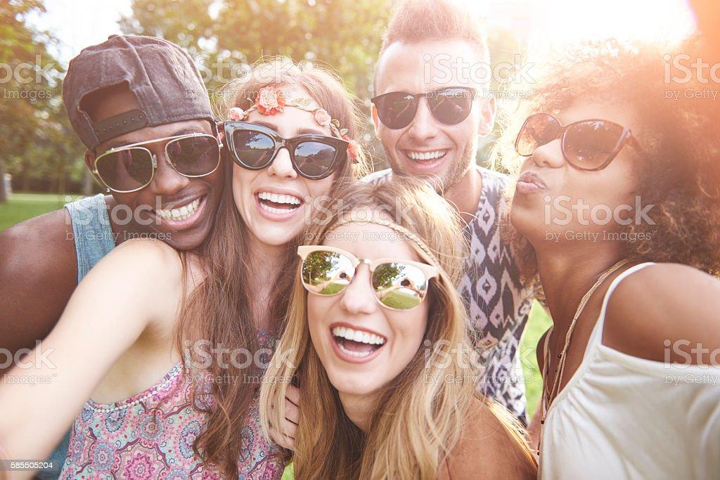 Selfie of five best friends - Photo