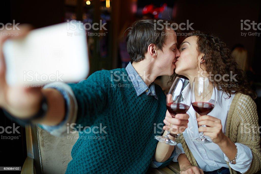 Selfie de Beijo - foto de acervo