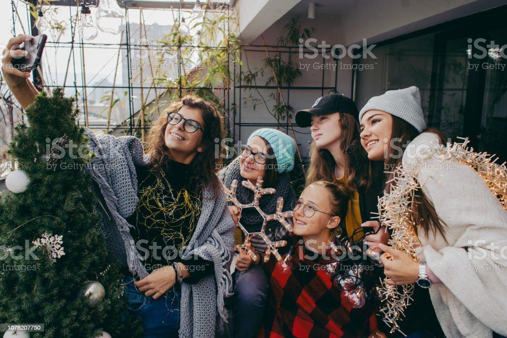 Selfie an einem Tag von Weihnachten – Foto