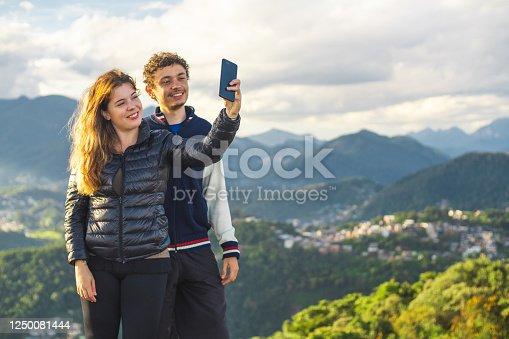 Couple, Heterosexual, Selfie, Serra dos Orgãos, Rio de Janeiro.