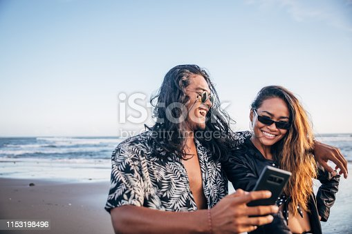 1083155024 istock photo Selfie on the beach 1153198496