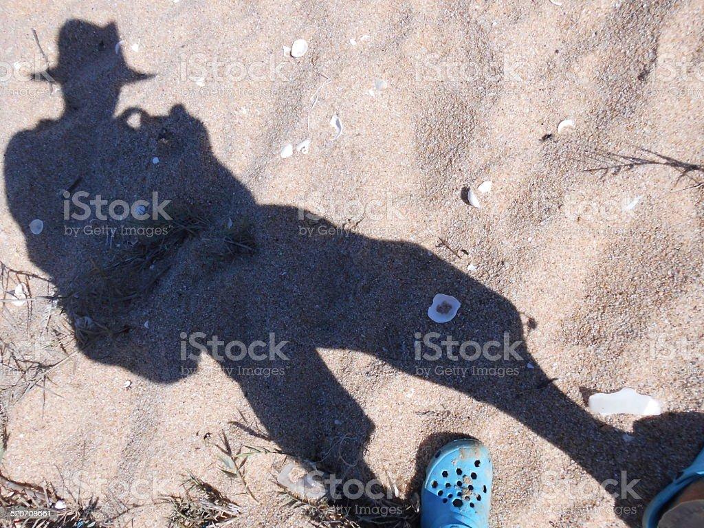 Selfie On The Beach stok fotoğrafı