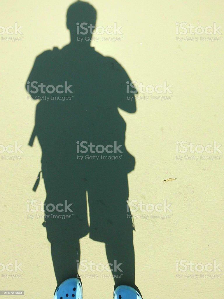 Selfie On The Footpath stok fotoğrafı