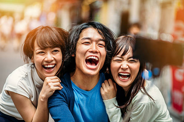 Autofoto personas de Japón - foto de stock