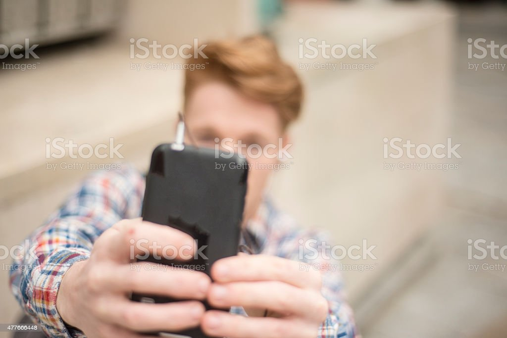 Selfie royalty-free stock photo