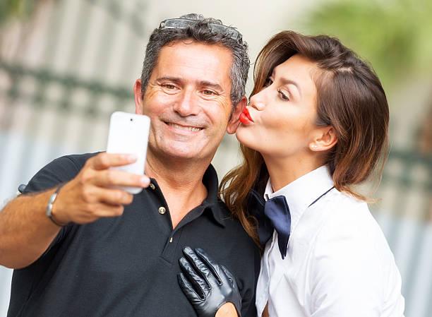 Selfie stock photo
