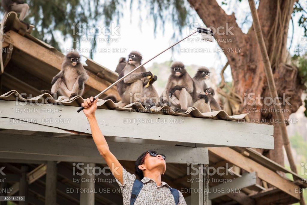 Selfie Stick hilft Selfie mit Wildtieren zu nehmen – Foto