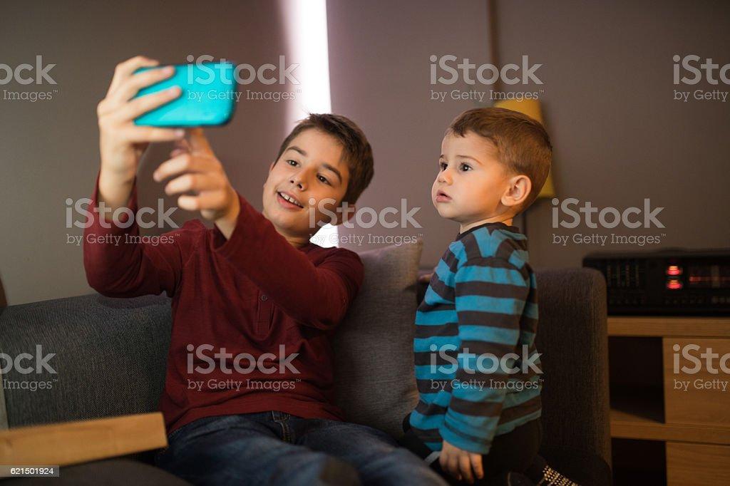 Selfie tempo  foto stock royalty-free
