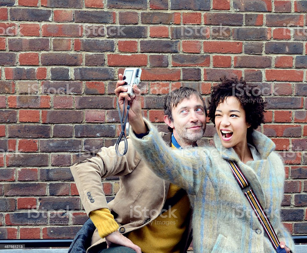Selfie with London couple royalty-free stock photo