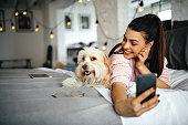 istock Selfie with my dog 1202410146