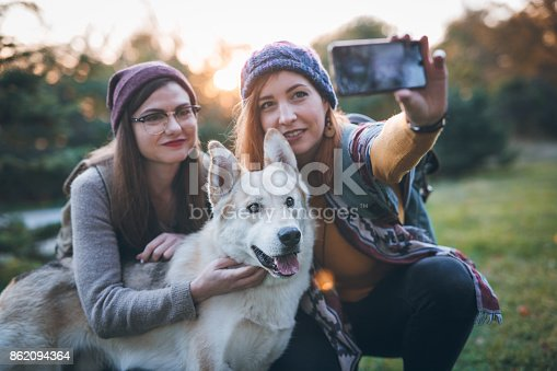 636418612 istock photo Selfie with our best friend 862094364