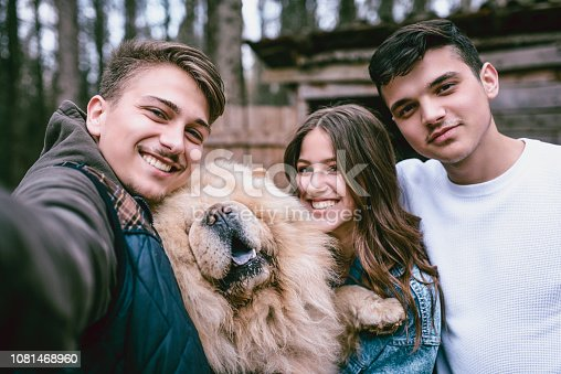 istock Selfie With Our Hairy Friend 1081468960