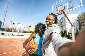 POV selfies after basketball match