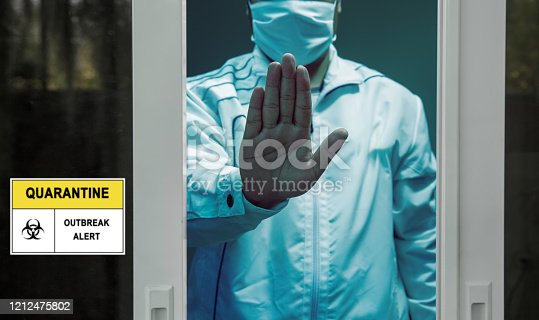 istock Self-isolation and self-quarantine to help stop the spread of coronavirus (COVID-19) , while you wait for test results. 1212475802