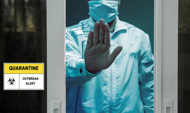 Selbstisolation und Selbstquarantäne, um die Ausbreitung des Coronavirus (COVID-19) zu stoppen, während Sie auf Testergebnisse warten. – Foto
