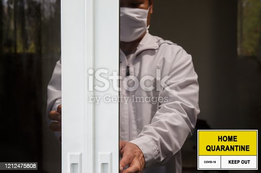 istock Self-isolation and self-quarantine to help stop the spread of coronavirus (COVID-19) , while you wait for test results. 1212475808