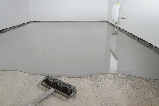 Selfleveling Epoxy Leveling With A Mixture Of Cement