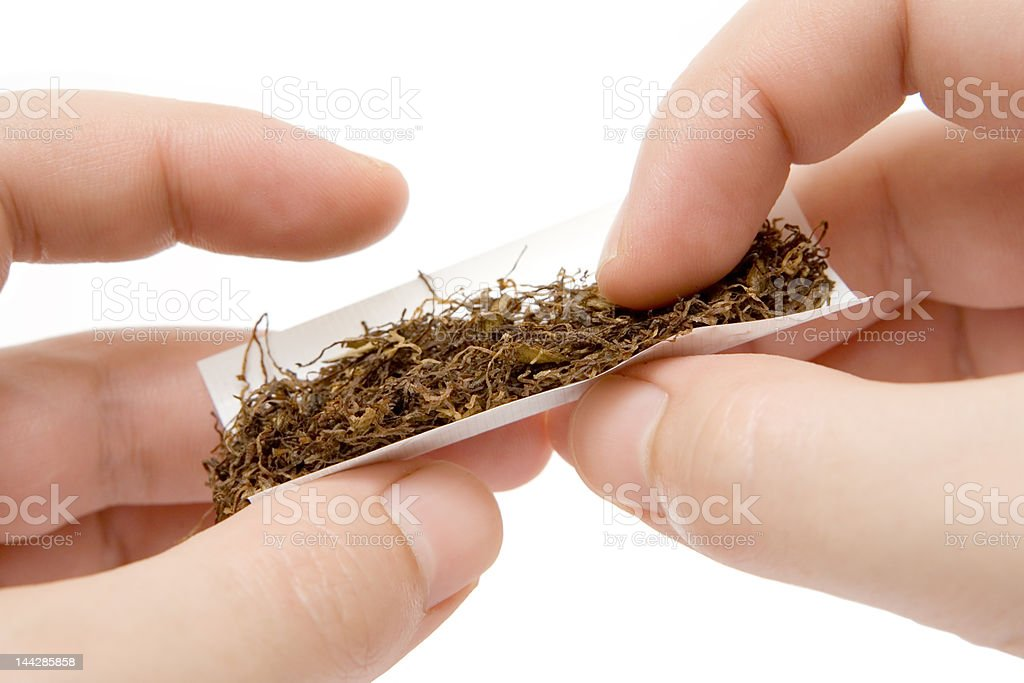 Self-made Cigarette stock photo