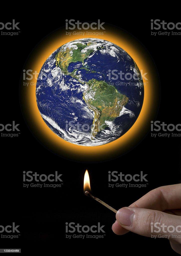 Selfmade Global Warming royalty-free stock photo
