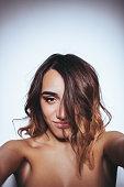 istock Self-portrait of a beautiful girl 528582778