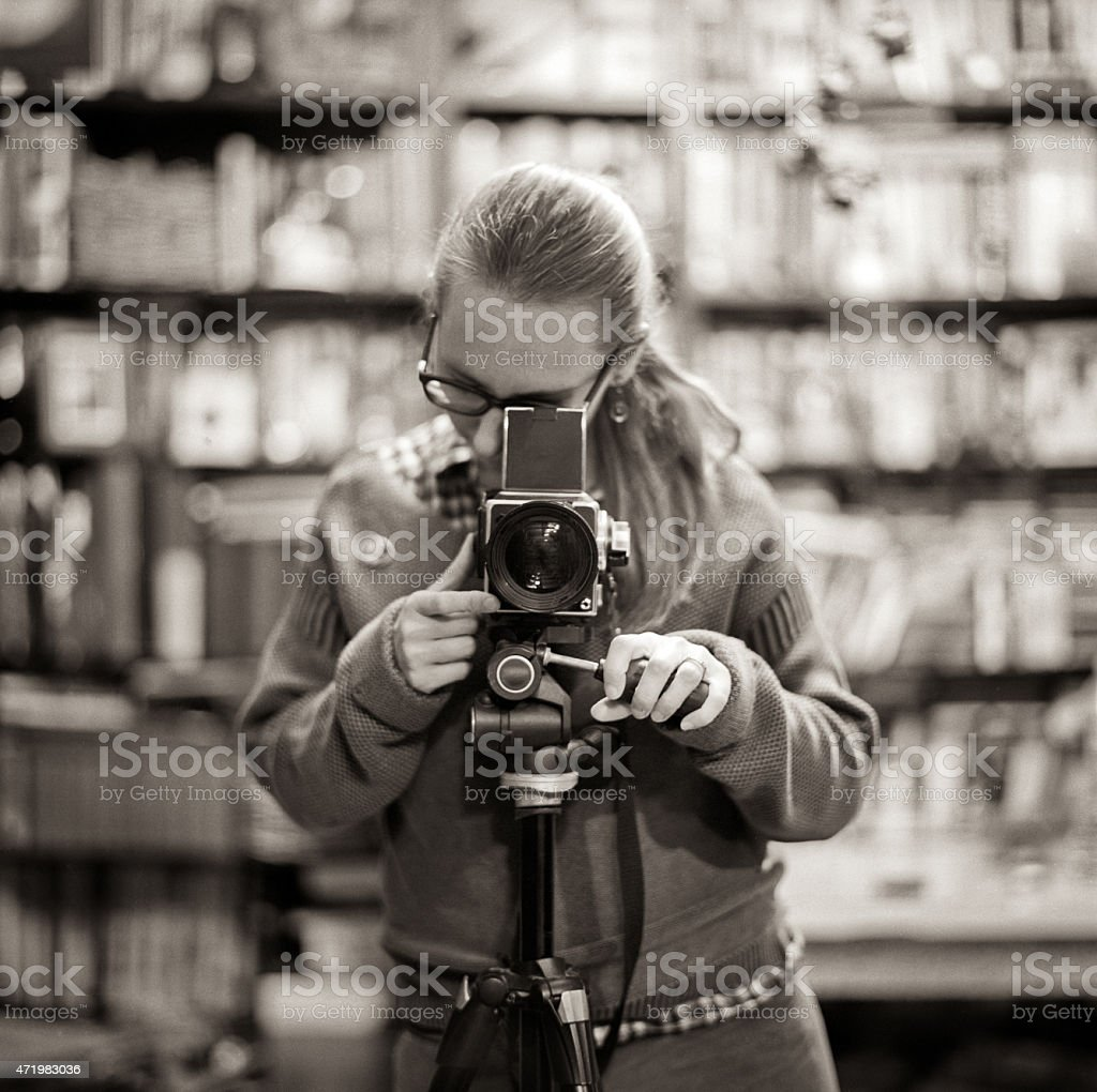 Self-portrait stock photo