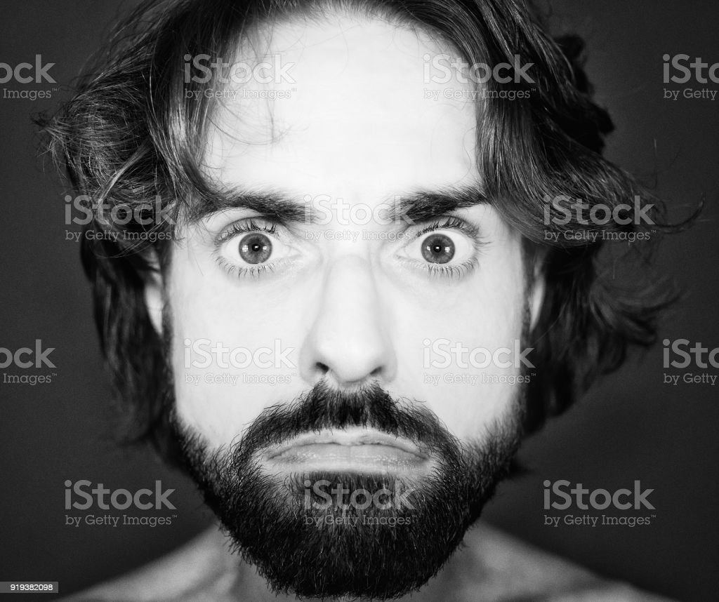 Self-portrait with the wrong lens stock photo