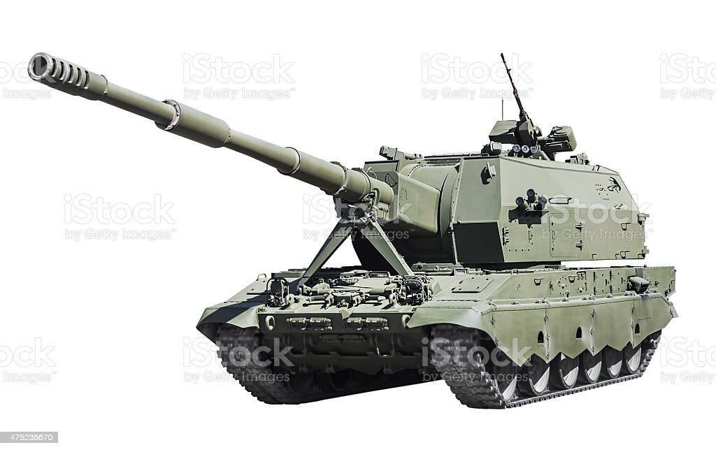 self-propelled artillery Class self-propelled howitzer isolated stock photo