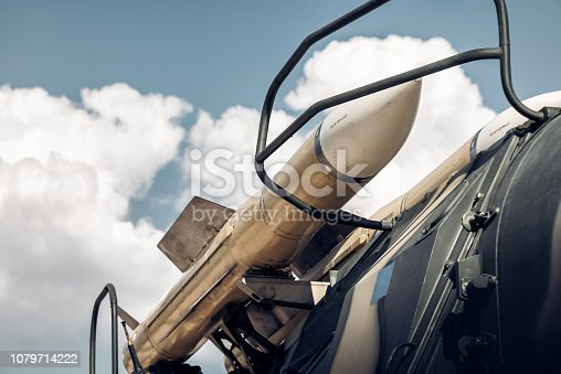Self-propelled missile launcher.