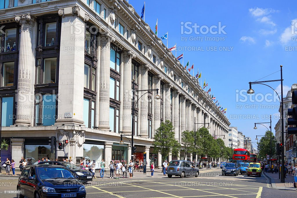 Selfridges Department store in Oxford Street, London, UK stock photo