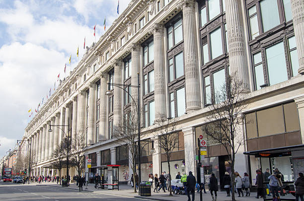 Selfridges Department Store, London stock photo