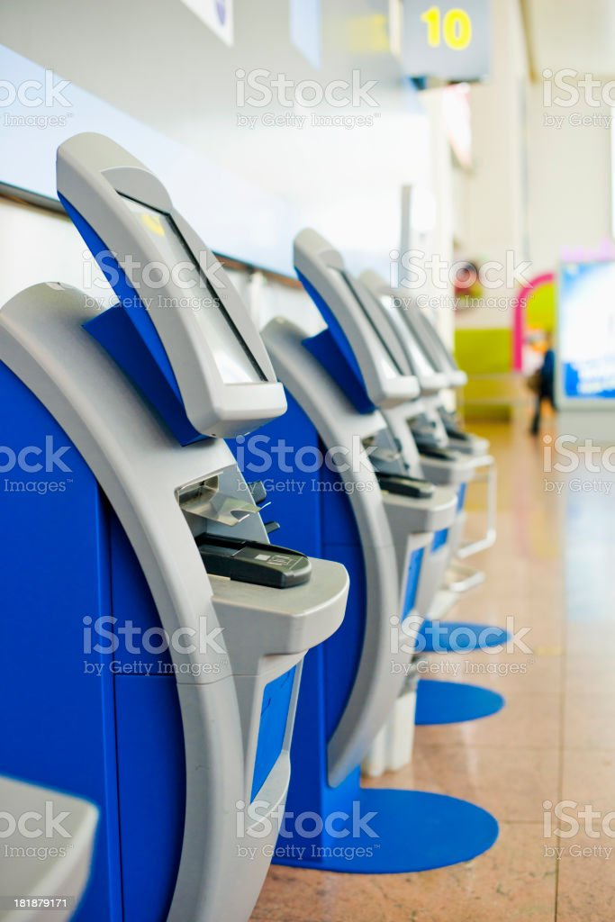 Self-service Check-in Machine in Airport stock photo