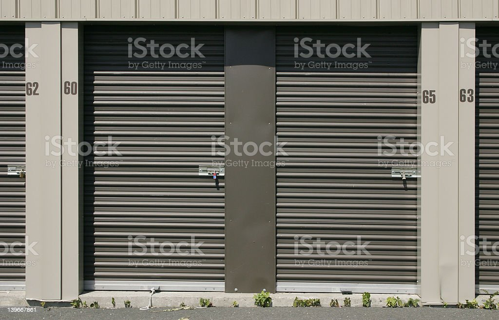 Self-Storage Units - Locks and Doors royalty-free stock photo