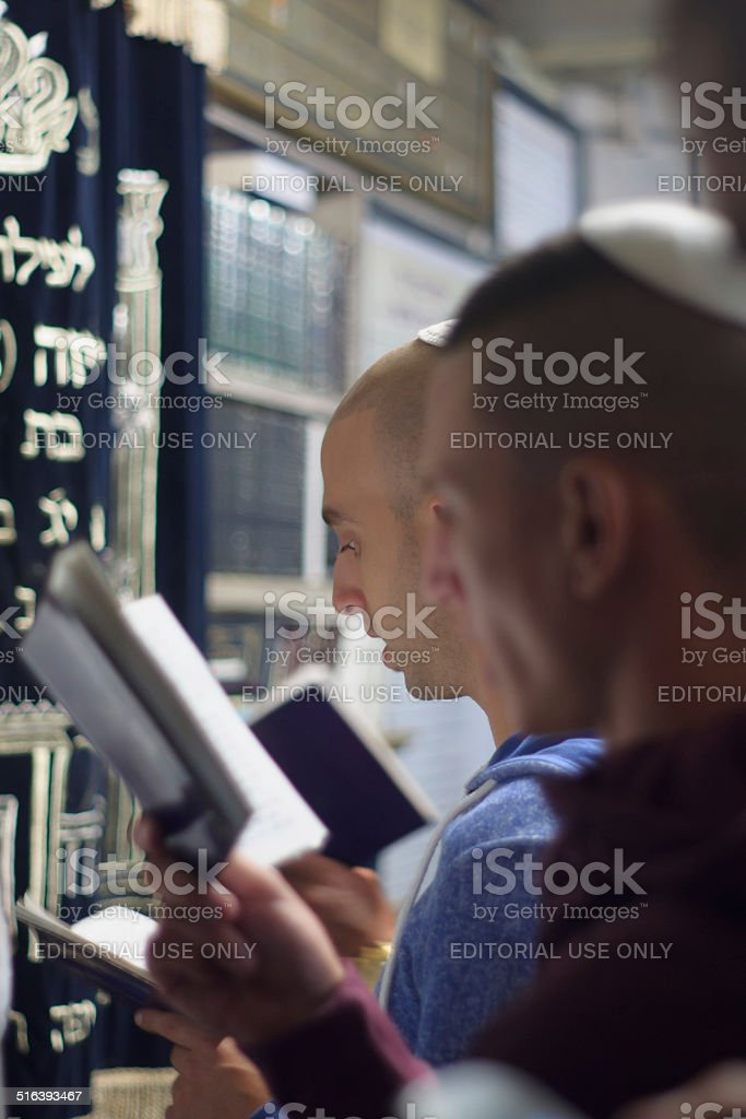 Selichot in Safed stock photo