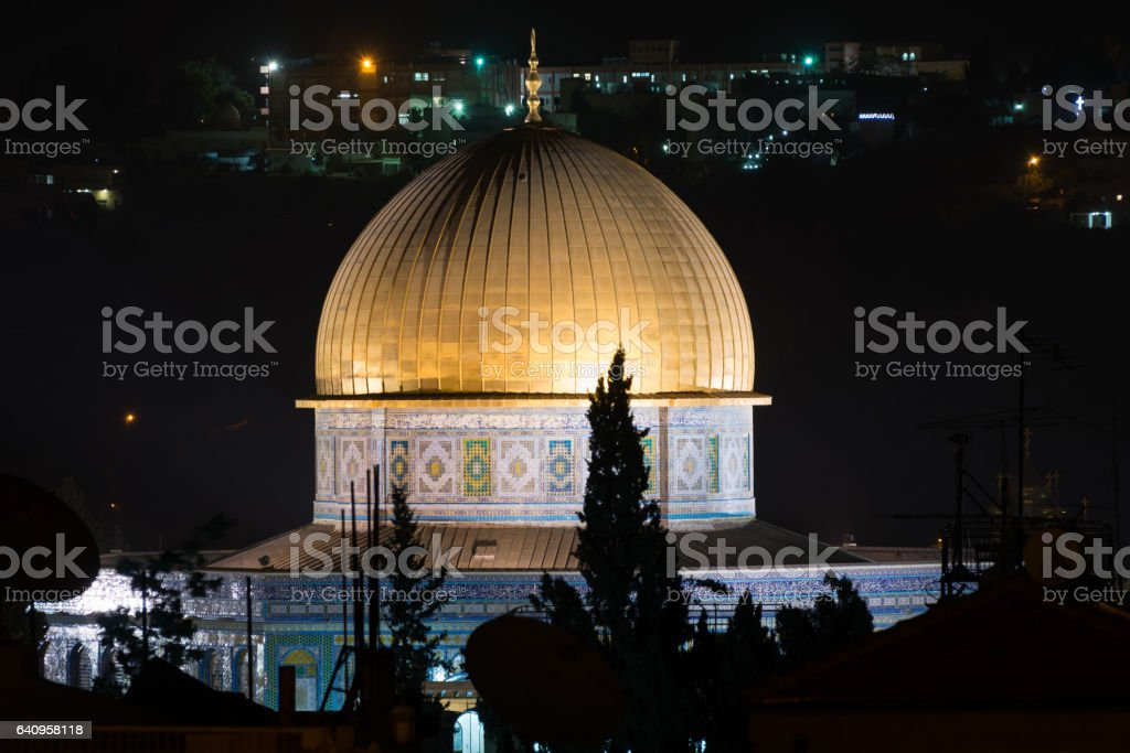 Selichot tour in Jerusalem, Israel stock photo