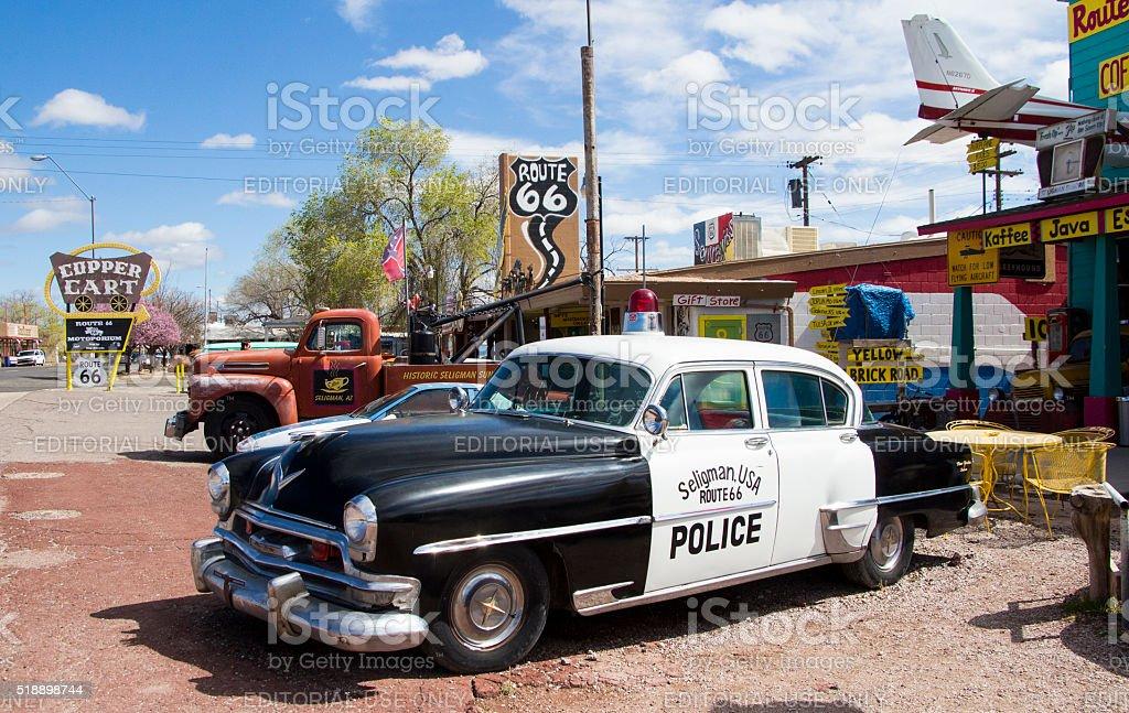 Seligman Police Car stock photo