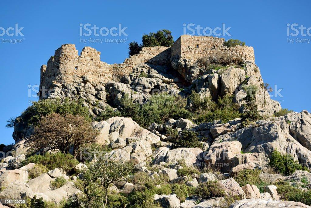 Selimiye Kalesi Muğla Kastamonu ilinin Bozburun Yarımadası. stok fotoğrafı