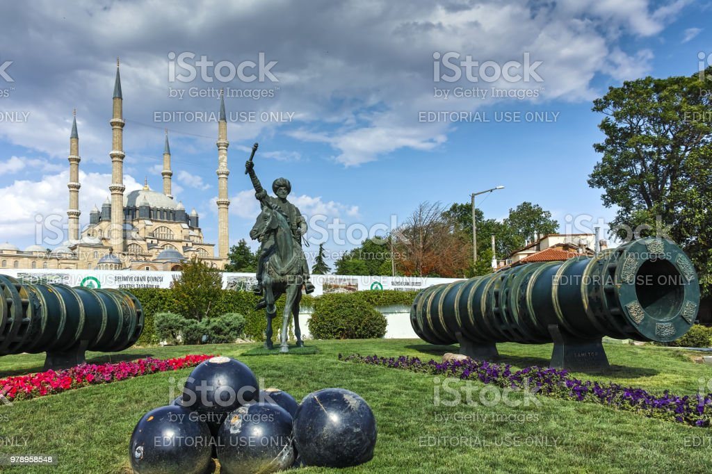 Selimiye Mosque And Monument Of Ottoman Sultan Mehmed Ii With