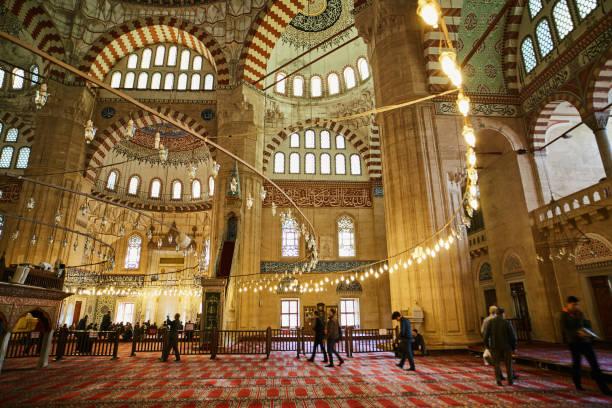 selimiye moschee in edirne, türkei - edirne stock-fotos und bilder