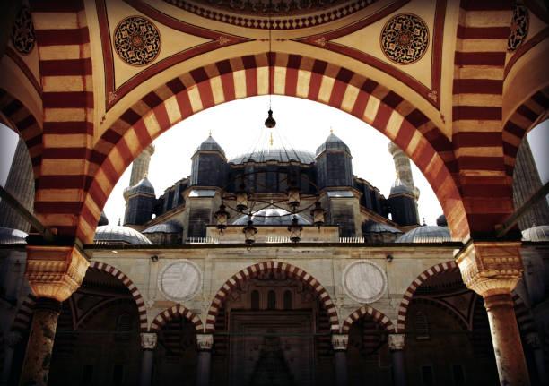 selimiye moschee gebaut von mimar sinan in edirne, tukey - selimiye moschee stock-fotos und bilder