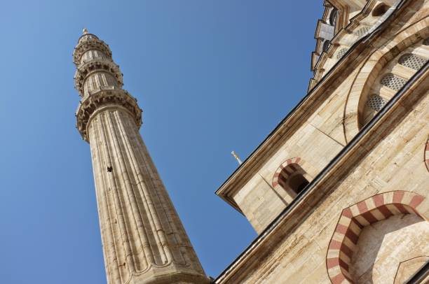 Selimiye Mosque, Edirne elimiye Mosque, Edirne, Famous Place, Europe, Architecture minaret stock pictures, royalty-free photos & images