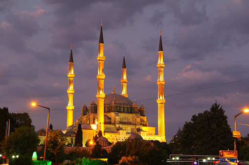 Turkey, Edirne, Selimiye Mosque. The UNESCO World Heritage Site Of The Selimiye Mosque, Built By Mimar Sinan In 1575