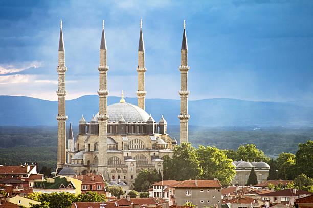 selimiye-moschee, edirne, türkei - selimiye moschee stock-fotos und bilder