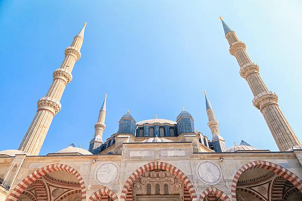 selimiye-moschee/edirne/türkei - selimiye moschee stock-fotos und bilder
