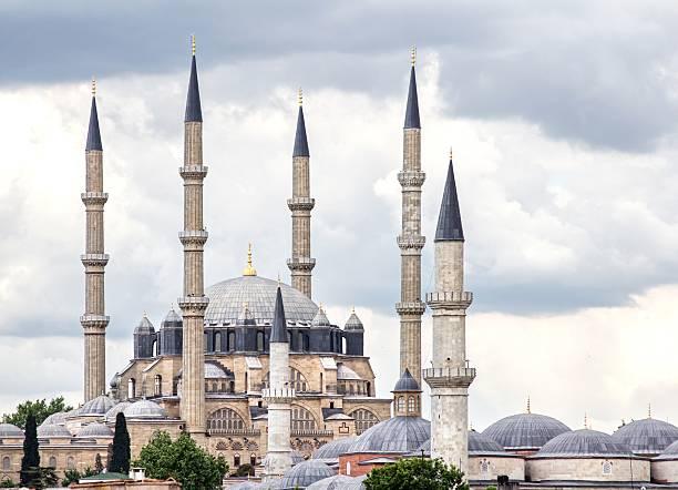 selimiye-moschee in der türkei - selimiye moschee stock-fotos und bilder