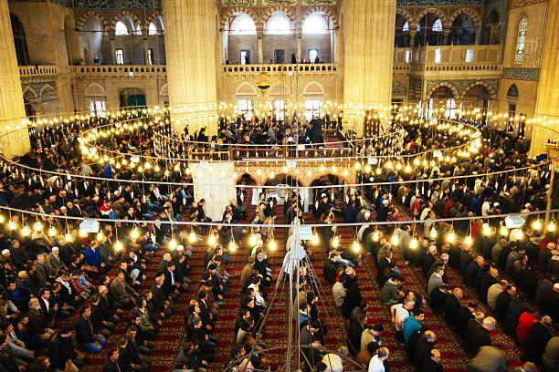 selimiye-moschee-islamische beten - selimiye moschee stock-fotos und bilder